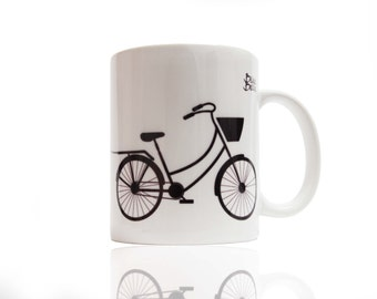 Bicycle mug Bike is my cabrio, gift for a cyclist