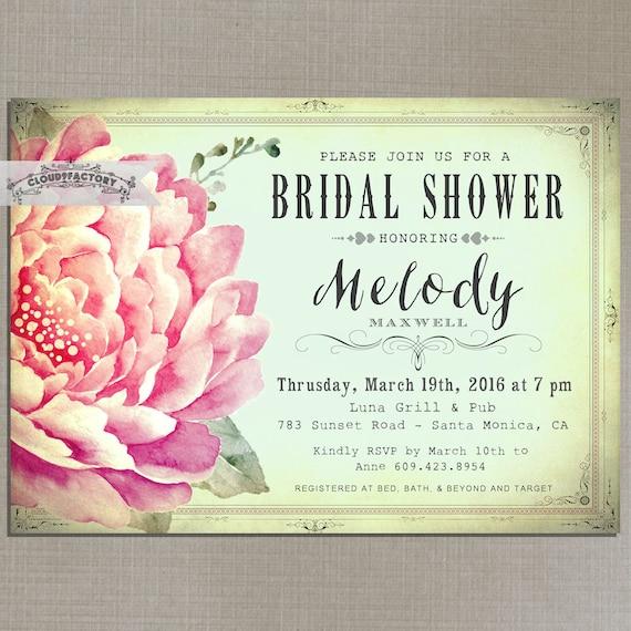Bridal shower einladung hochzeit gartenparty tea party minze - Gartenparty hochzeit ...