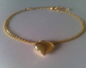 Exquisite Ankle Bracelet with a heart shaped feature