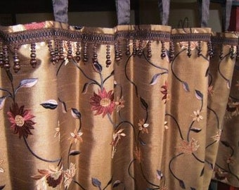 Tab top, lined valance or cafe curtains