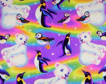 LISA FRANK  stickers  S276  Roary and the Puffin friends penguins polar bear stickers