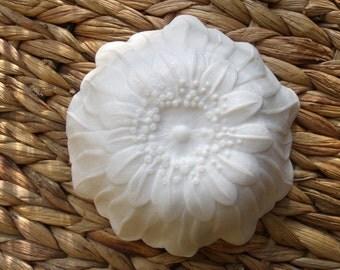 Milk Glass Flower Bowl