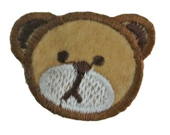Embroidered Iron On Appliques patch Bear head  NEW
