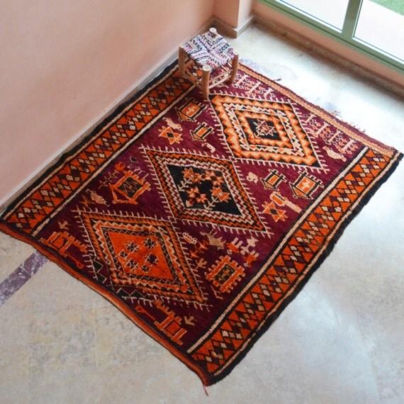 Morocco Vintage rug // 6 x 6 // Berber rug // KL9994