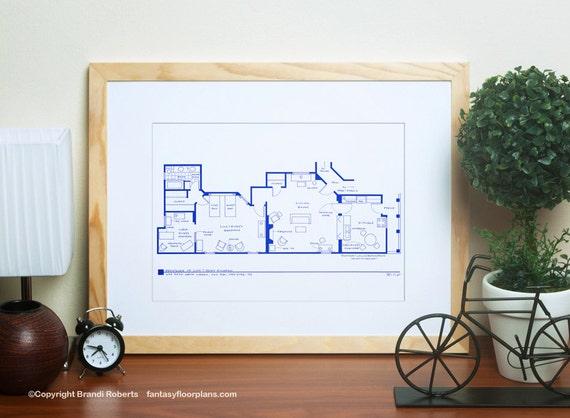 I Love Lucy 2nd Apartment Floor Plan Famous Tv Show Floor