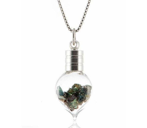 Natural Alexandrite Necklace: Natural ALEXANDRITE Uncut Rough Heart Pendant 3.00ctw