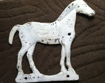 Cast Iron Horse Windmill Weight With Full Tail