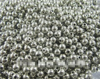 WHOLESALE 1000pcs  6mm Silver Round Spacer Beads