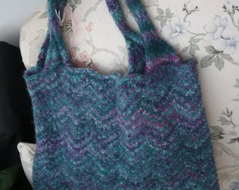 Shopping Bag Hand Felted Tote Bag