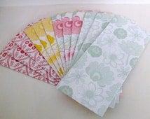 12 Handmade Decorative Floral Envelopes