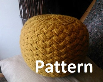 Popular items for knit pouf on Etsy