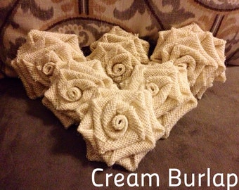 Large Burlap Flower - 6