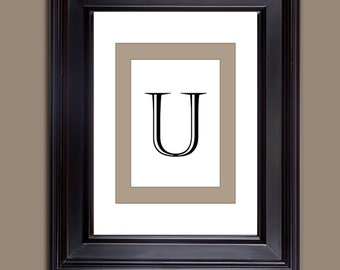 Monogram Prints - Letter Prints - Download only - Letter U  10 x 8 and 11 x 14