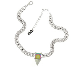 Psychedelic Triangle Necklace
