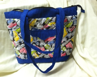 Tote covered in Tennies