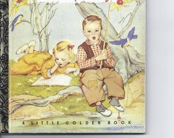 "Vintage Children's Little Golden Book ""Nursery Songs"" - commemorative version"