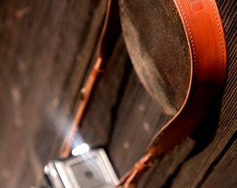 Leather Camera Strap - Cognac