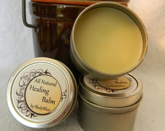 Healing Balm ~ Tin. Salve, Moisturizing, herbal, Natural Neosporin®, comfrey, calendula, vitamin, essential oils, frankincense sacred
