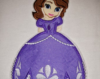 Girls Princess Sofia the First Purple Boutique Birthday Party Everyday Embroidered Shirt! Sizes 18 Months 24 Months ,3, 4, 5, 6, 7, 8