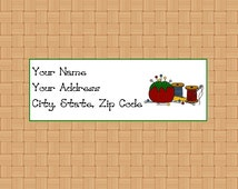 Address Labels Personalized Labels Return Labels Sewing Stuff Labels Sewing Pin Cushion Embroidery