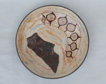 Ceramic Plate, Home Decor, Decorative Pottery Plate