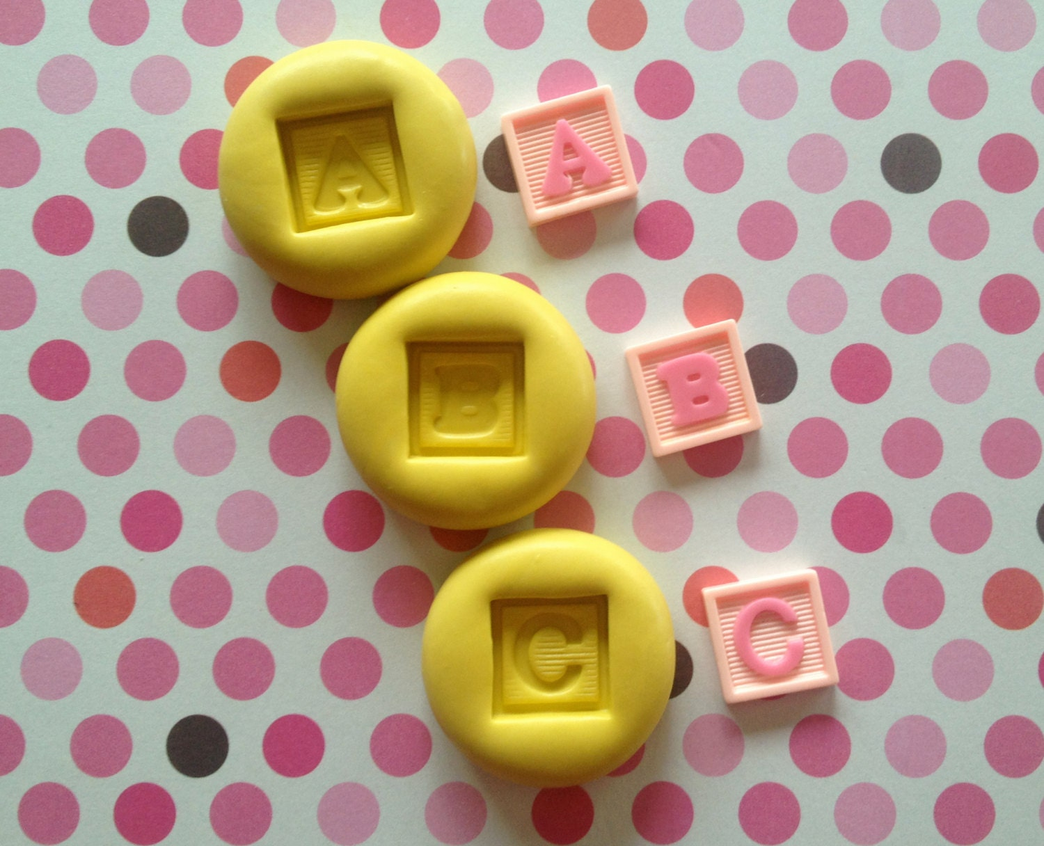 A B C Letters Baby BLOCK Silicone MOLD-Resin, A B C Block ...
