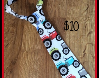 Handmade Little Boy Neck Tie / necktie  Tractors