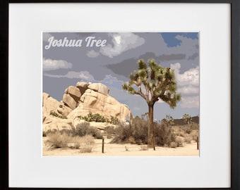 Joshua Tree Art Travel Poster National Park Print Home Decor (ZB16)