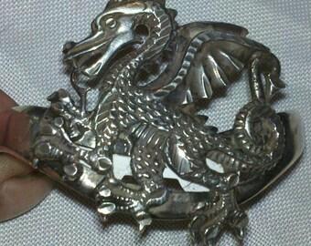 Mexican .925 silver Dragon Bracelet large unique