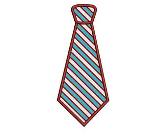 Neck Tie Applique Machine Embroidery Digitized Filled Design Pattern (necktie)   - Instant Download - 4x4 , 5x7, and 6x10 -hoops