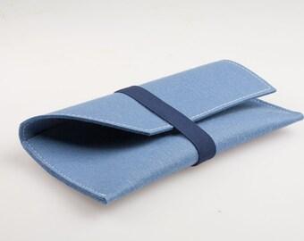 Night Bag/Clutch Blue Woolfelt