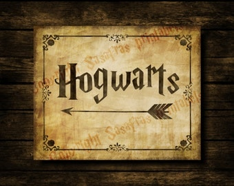 Lively image with hogwarts sign printable