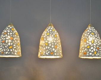 15% off. Hanging lamp shades. Lighting. 3 ceramic pendant light. Pendant lighting fixture.