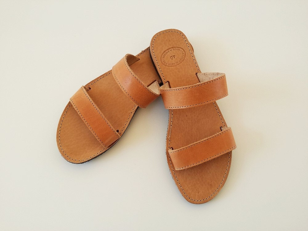 Luxury Brown Leather Sandals For Women  Leather Sandals
