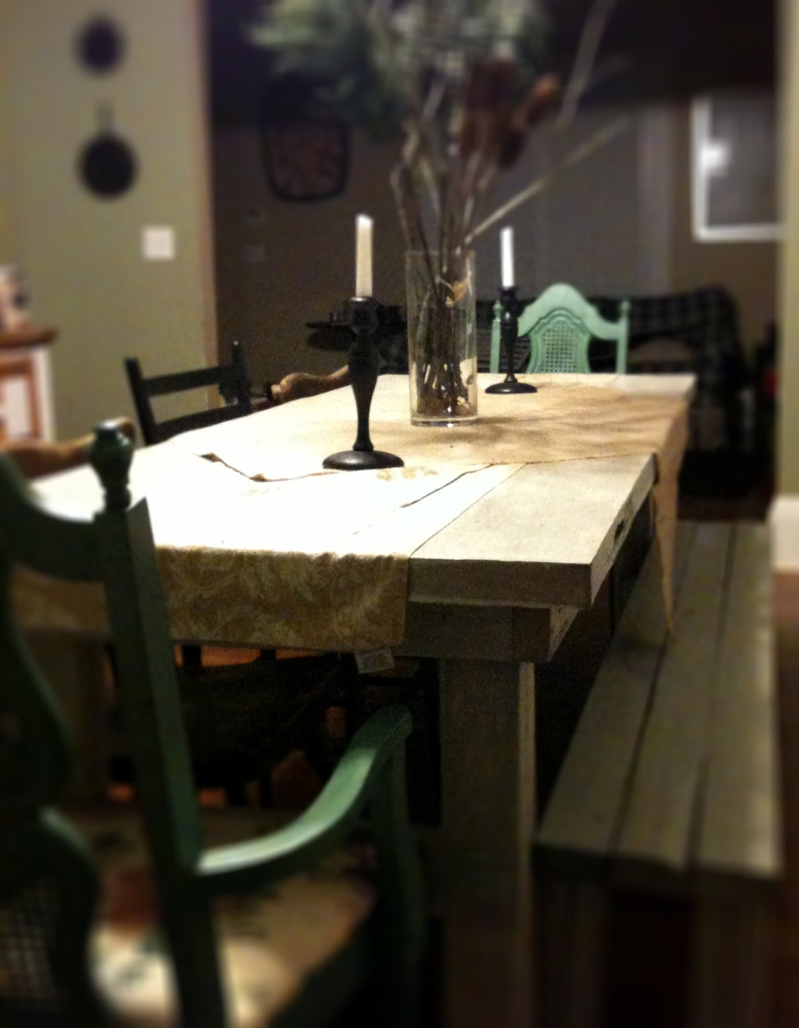 Repurposed door farmhouse table 80x30 by macmaddies on etsy for Repurposed dining table