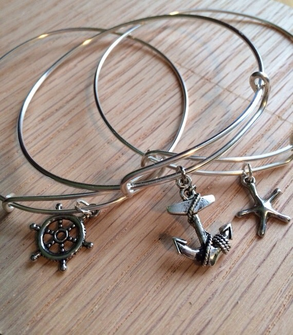items similar to three alex and ani inspired bracelets