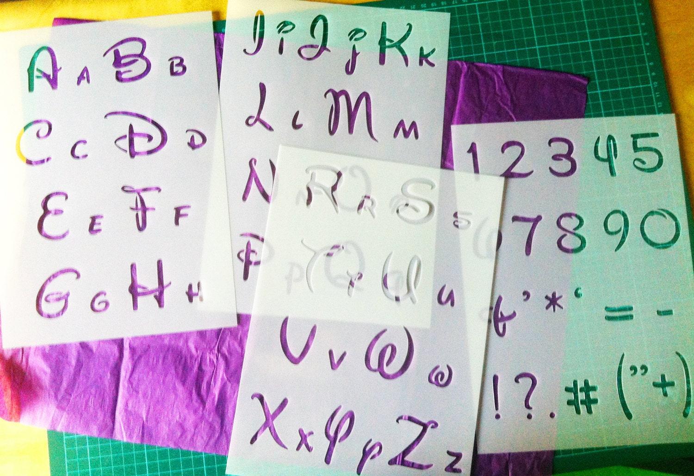 Disney Alphabet Letters reusable STENCIL / for Kids by CreateCuts