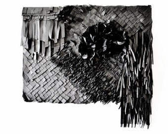 Darkness - tissue paper wall art