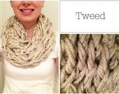 Super Soft Chunky Infinity Scarf - Tweed