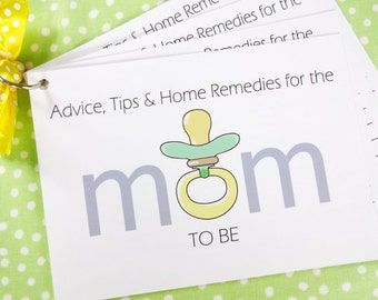 DIY Baby Shower Advice Printable Cards for a Baby Gender Neutral