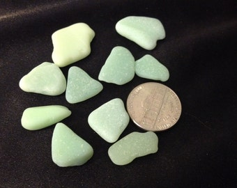 Beach glass Sea glass, jewelry supplies.  Jadeite lot.