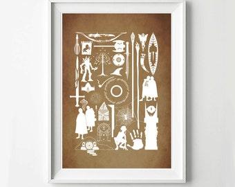 Lord of the Rings Movie Poster - Minimalist Print, Digital Art Print, Movie Poster
