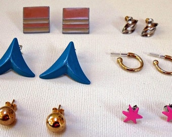 earrings vintage 6 pair destash Lot7E