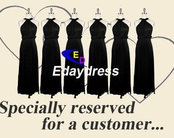 Black Wrap Convertible Infinity Dress Evening Dresses Straight Hem Floor Length Navy Bridesmaid Dress