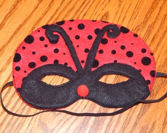 Ladybug Felt Mask - Costume Accessory - Any size available