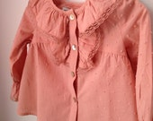 Girls Toddler blouse, Boho Toddler Shirt, Shabby Chic Clothing, Lace Shirt, Lignt Pink Top, Vintage Style Clothing, Girl Clothes, 2T and 3T