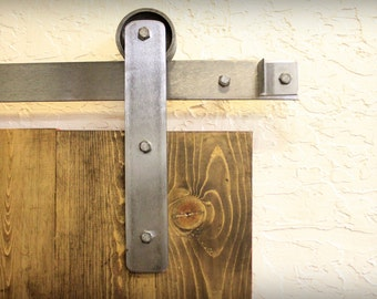 industrial brushed steel sliding barn door hardware rustic 100% stell made in usa