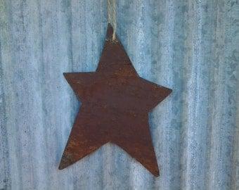 Reclaimed Barn Tin Star Ornament