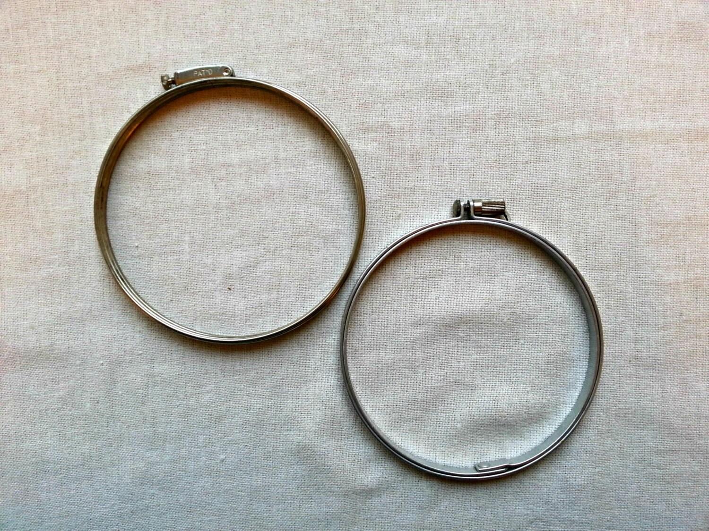 Embroidery hoops metal vintage by northwestcharmschool on etsy