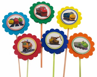 12 free cupcake toppers with the purchase of Chuggington party